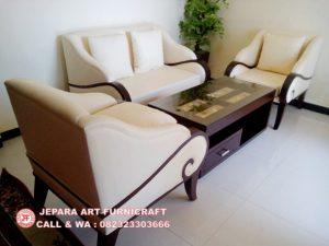 Sofa Tamu Minimalis Jati Puspa