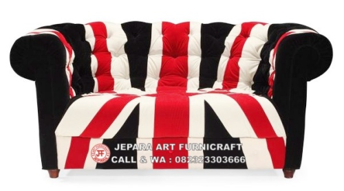 Gambar Sofa Minimalis Chesterfield Union Jack 1