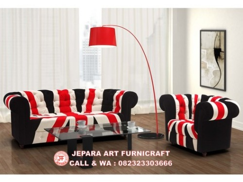 Gambar Sofa Minimalis Chesterfield Union Jack 3