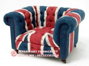 Sofa Vintage Union Jack 1 Seater