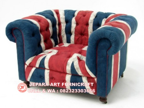 Gambar Sofa Minimalis Chesterfield Union Jack 4