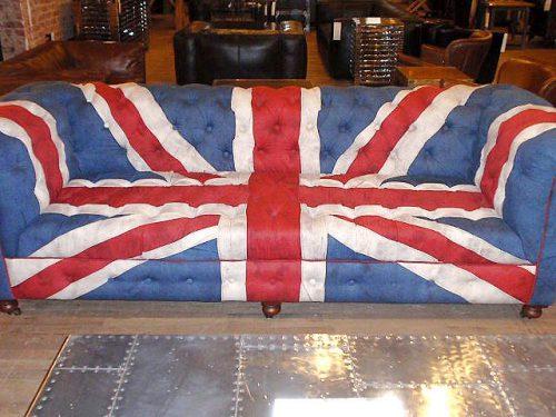 Gambar Sofa Tamu Chesterfield Bendera Inggris 1