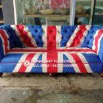 Sofa Tamu Chesterfield Bendera Inggris