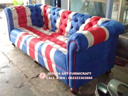 Gambar Sofa Tamu Chesterfield Bendera Inggris 2