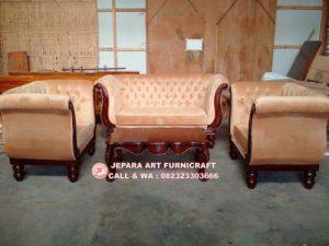 Sofa Tamu Jati Swan Legacy