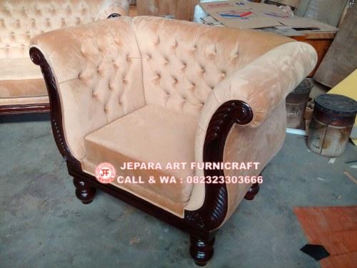 Gambar Sofa Tamu Jati Swan