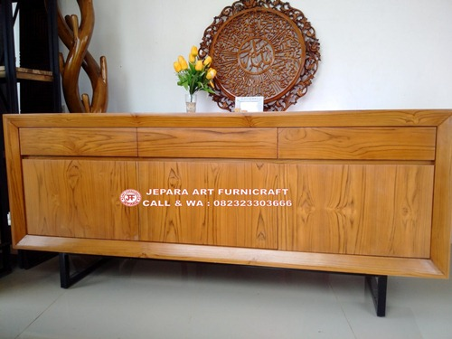 Harga Termurah Jual Bufet Minimalis Jati Vintage Mid 001