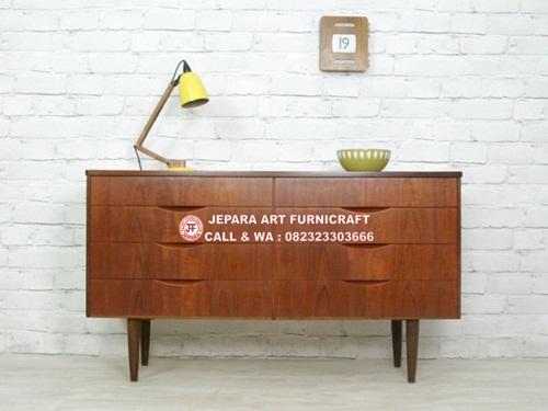 Gambar Bufet Minimalis Jati Vintage Mid 006 01