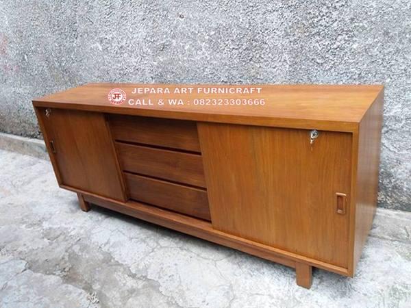Bufet Minimalis Jati Vintage Mid 015