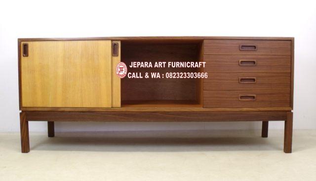 Bufet Minimalis Jati Vintage Mid 016