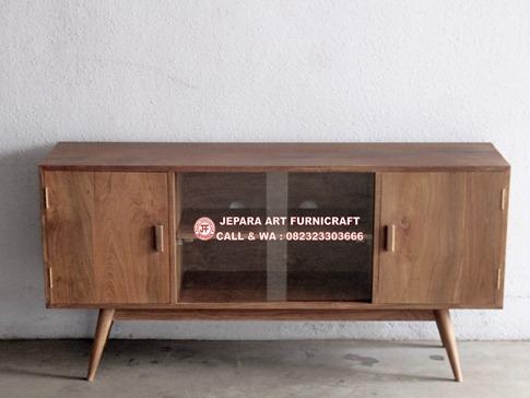 Unik Dan Terbaru Jual Bufet Minimalis Jati Vintage Mid 018 Harga Murah