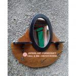 Cermin Jati Vintage Oval