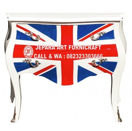 Dijual Murah Drawer Commode Union Jack