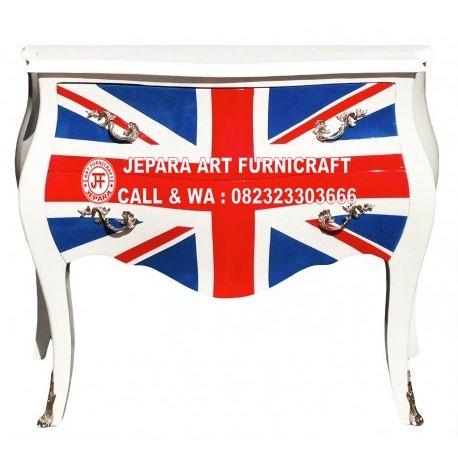 Dijual Murah Drawer Commode Union Jack