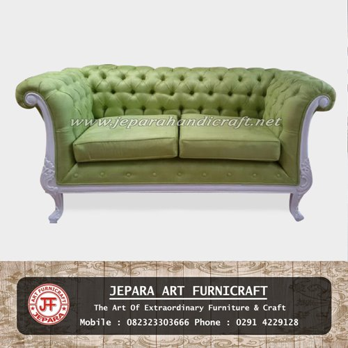 Mewah! Kursi Sofa Tamu Classic Green Dijual Murah