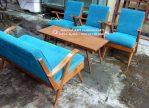 Kursi Tamu Jati Vintage Blue