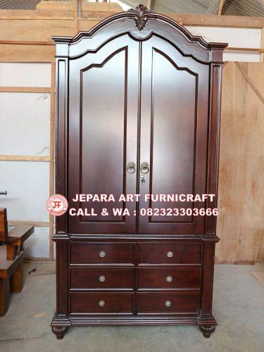 Toko Furniture Jual Lemari Pakaian Jati Minimalis Grande Harga Murah Dan Berkualitas