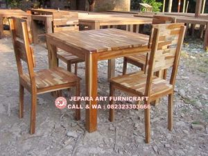 Set Meja Makan Antik Recycled