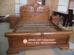 Set Tempat Tidur Jati Ukir Peluru