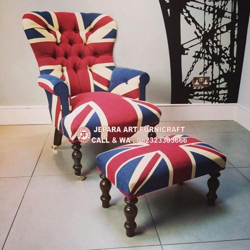 Best Seller! Sofa Modern Union Jack Angle Murah