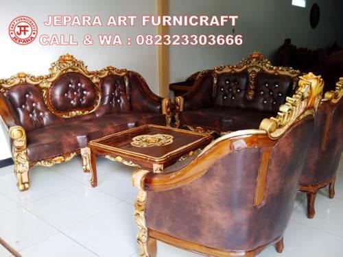 Gambar Sofa Tamu Jati Ganesha Marmer 2