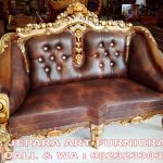 Sofa Tamu Jati Ganesha Marmer