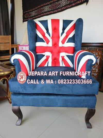 Gambar Sofa Tamu Union Jack