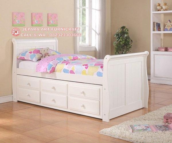 Gambar Tempat Tidur Minimalis Anak Laci