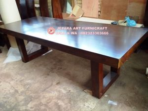 Meja Makan Solid  Trembesi 250×100 Cm Unnatural