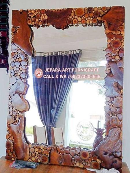 Cermin Antik Akar Jati