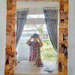 Cermin Antik Deco Blok Laminated