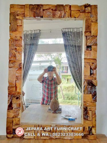 Gambar Cermin Antik Deco Blok Laminated 5