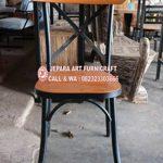 Kursi Makan Minimalis Crossback Industrial