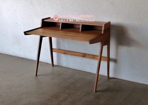 Dijual Meja Belajar Minimalis Modern Vintage Murah