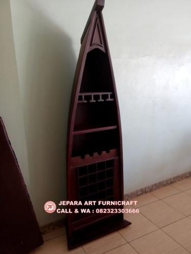 Gambar Rak Kayu Antik Model Perahu