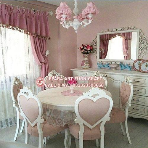 Gambar Set Kursi Makan Mewah Klasik Love