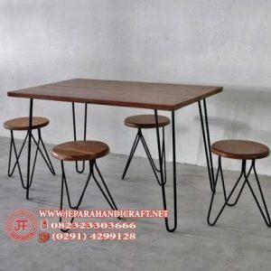 Set Meja Makan Antik Industrial Style