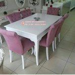 Set Meja Makan Mewah Klasik Purple