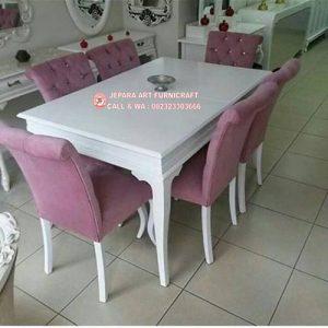 Set Kursi Makan Mewah Klasik Purple