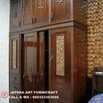 Dekorasi Dinding Art Deco Kayu Jati Unik