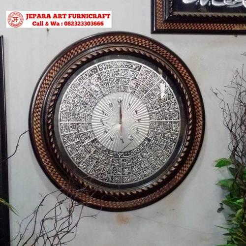 Gambar Jam Kaligrafi Asmaul Husna Silver
