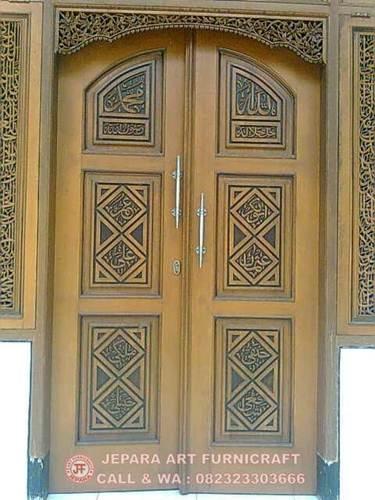 Gambar Kaligrafi Arab Pintu Masjid