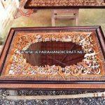 Kaligrafi Jati Alfatihah Cermin