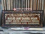 Kaligrafi Jati Arab Plang Masjid