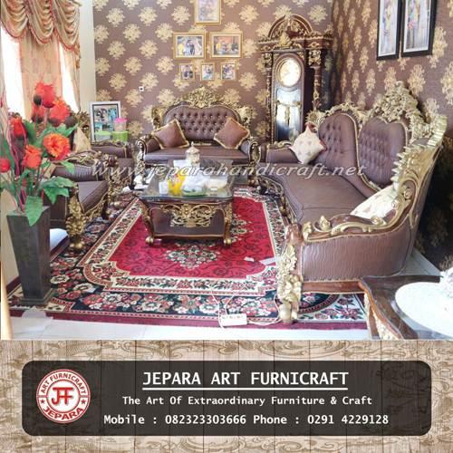 Gambar Kursi Tamu Sofa Jati Royal Calista