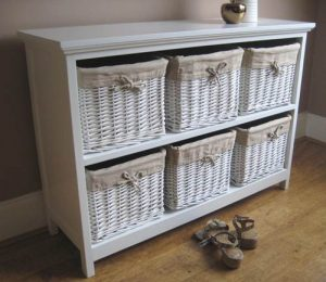 Meja Drawer White Rattans