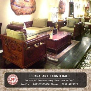 Set Kursi Tamu Sofa Jati New Bei