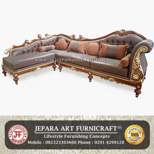 Gambar Sofa Ruang Tamu Mewah Cleopatra Sudut Murah