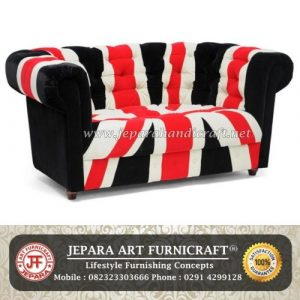 Sofa Minimalis Chesterfield Union Jack