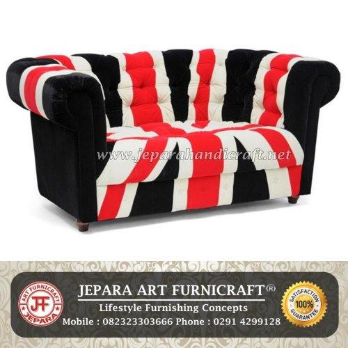 Gambar Sofa Tamu 2 Seat Bendera Inggris Murah